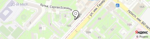 ЖЕЛЕЗЯКА на карте Липецка