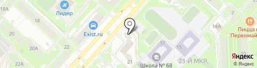 Спортивный детско-юношеский центр на карте Липецка
