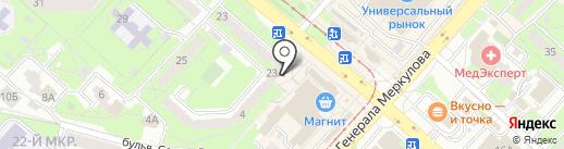 Максавит на карте Липецка