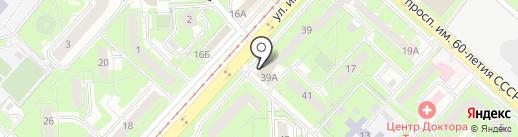 Липецкфармация, ОГУП на карте Липецка