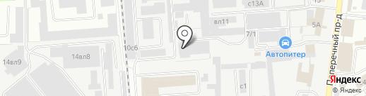 Сатурн на карте Липецка