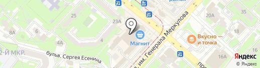 Румба на карте Липецка