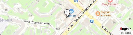 Уютерра на карте Липецка