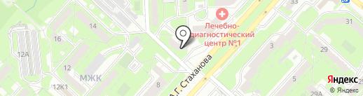 Сеть объединенных вычислительных центров на карте Липецка