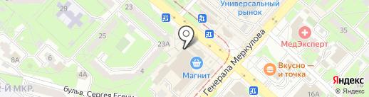 Лещатник на карте Липецка