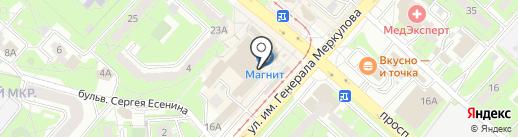 Банкомат, Банк ВТБ 24, ПАО на карте Липецка