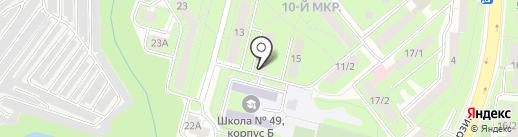 Афелия на карте Липецка