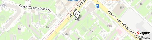 Нью-Дент на карте Липецка