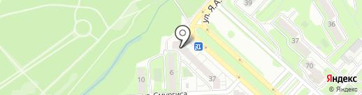 Кайман на карте Липецка