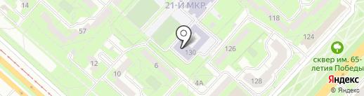 Спортивный на карте Липецка