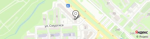 Два товарища на карте Липецка