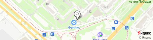Липецкое такси на карте Липецка