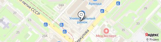 Церковная лавка на проспекте 60 лет СССР на карте Липецка