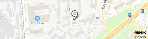 Вилок на карте Липецка