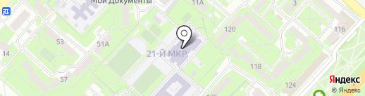 Средняя общеобразовательная школа №70 на карте Липецка