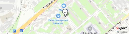 Велес на карте Липецка