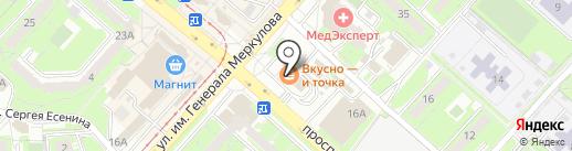 МакДоналдс на карте Липецка