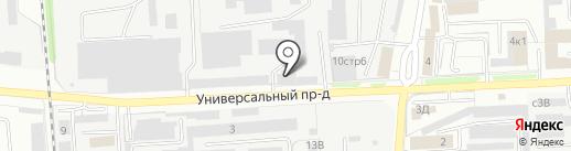 Автокомплект на карте Липецка