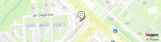 Ивановский трикотаж на карте Липецка