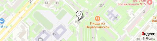 Новолипецкий на карте Липецка