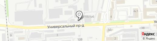 Липецкий карьер на карте Липецка