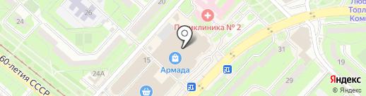 Л`Этуаль на карте Липецка