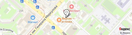Мастерская по чистке подушек на карте Липецка