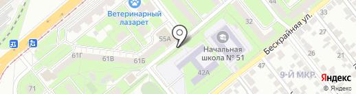Киоск по продаже фруктов и овощей на карте Липецка