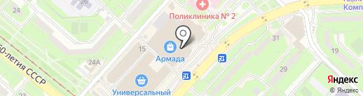 Банкомат, АКБ Связь-банк, ПАО на карте Липецка