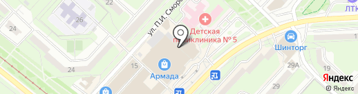 О`Кей на карте Липецка