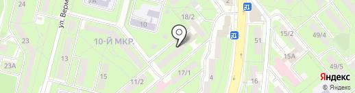 Алфавит на карте Липецка