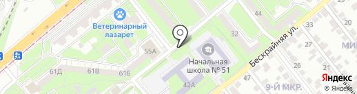 Киоск по продаже колбасных изделий на карте Липецка