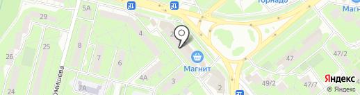 Церковная лавка на ул. Вермишева на карте Липецка