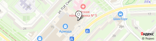 ДЕНТАЛКОМ на карте Липецка