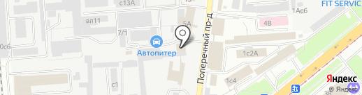Автостандарт на карте Липецка