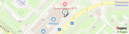Юнэкт на карте Липецка