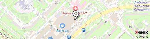 Модный школьник на карте Липецка