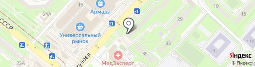 Маскарад на карте Липецка