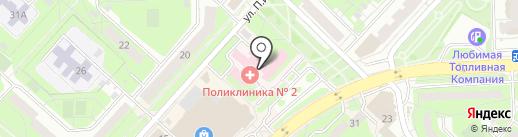 Детская городская поликлиника №5 на карте Липецка