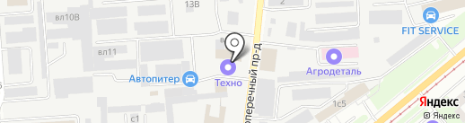 Динитрол на карте Липецка