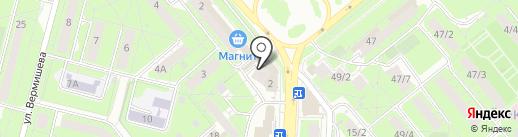 Гранит 48 на карте Липецка