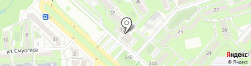 Анрико на карте Липецка