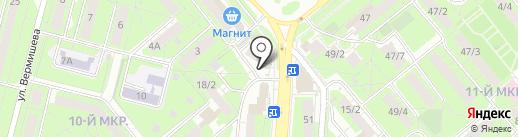 Киоск по продаже косметики на карте Липецка