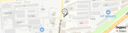 Доброга на карте Липецка