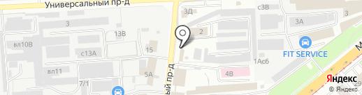 Магазин товаров для ванных комнат на карте Липецка
