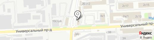 Три Кита на карте Липецка