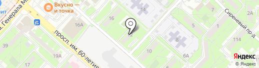Тайра на карте Липецка