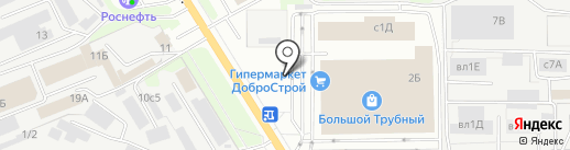 Магазин напольных покрытий на карте Липецка