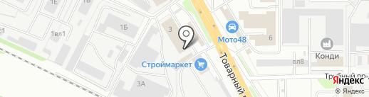 Рельеф на карте Липецка