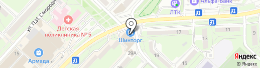Магнит на карте Липецка